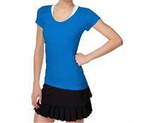 Calvin Klein Performance Active Cap-Sleeve Top, Blue, XL