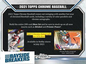 Detroit Tigers 2021 Topps Chrome Jumbo Baseball Half Case (4 Box) Break #4