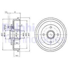 2x Bremstrommel DELPHI BF402 hinten für FORD