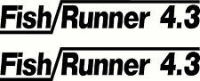 Quintrex Fish Runner 4.3 Fishing Boat Sticker Decal Marine Set of 2