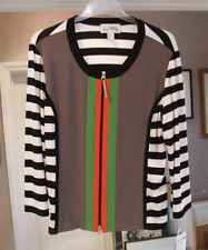 Joseph Ribkoff 10 BNWT Exquisite Black &White, Orange, Lime, Taupe Zip-Up Jacket