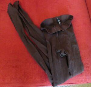 New! Wolford Dark Brown Velvet Tights Size Medium Semi-Opaque