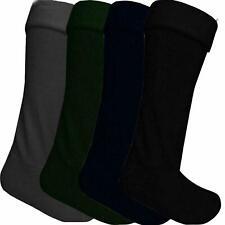 1 Pair Mens Wellington Wellie Boots Hot Warm Winter Cosy Liner Fleece Long Socks