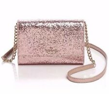 Kate Spade Glitter Bug Rose Gold Cami Crossbody Bag Clutch Purse NWT