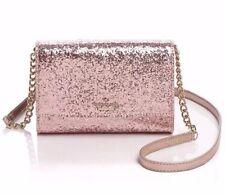Kate Spade Glitter Bug Rose Gold Cami Crossbody Bag Clutch Purse NWT