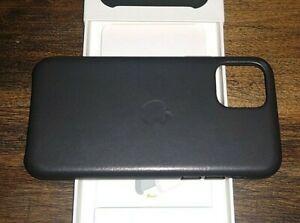 NIB   Authentic Apple iPhone 11 Pro  Genuine Leather Case   Black