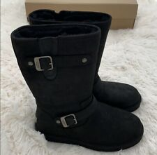 Brand New authentic UGG Sutter waterproof Leather Black boots US Size 7
