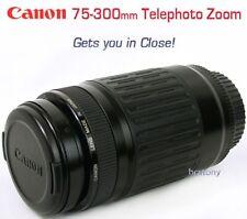 CANON EOS EF 75-300mm Zoom Lens +Filter Rebel~Digital & Film SLR Telephoto XLNT!