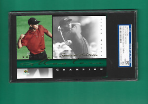 2001 Upper Deck Authenticated Masters Champion Tiger Woods SGC 92