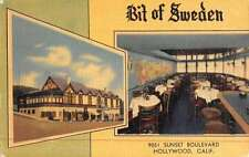 Hollywood California Bit Of Sweden Multiview Antique Postcard K46987