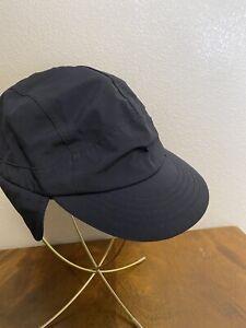 REI Primaloft Cap With Ear Flaps Black Lined S/M