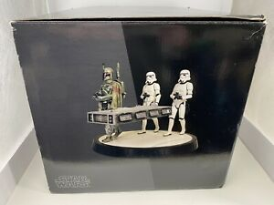 Gentle Giant Star Wars Boba Fett With Han Solo in Carbonite Statue Stormtrooper