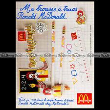 McDONALD'S & RONALD 'Trousse à trucs' Fast food 1983 - Pub / Publicité / Ad #A56