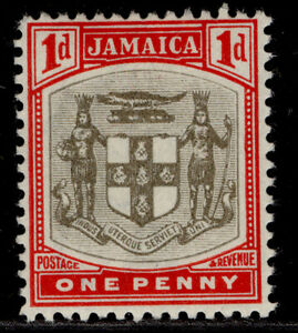 JAMAICA EDVII SG34, 1d grey & carmine, M MINT.