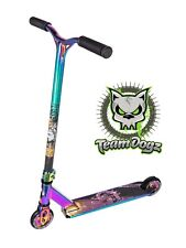 Team Dogz Pro X Rainbow Neo Chrome Petrol Oil Slick Kids Stunt Push Scooter