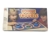 Vintage 1987 MILTON BRADLEY POP O MATIC DOUBLE TROUBLE Board GAME 100% COMPLETE