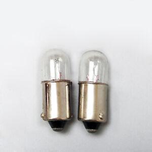 2x B9 Bayonet Indicator Light Bulb Lamp 6.3/12/24/30/36/48V 1/1.5/2/3/5W 9x28mm