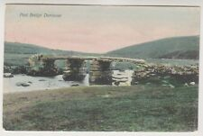 Devon postcard - Post Bridge, Dartmoor - P/U 1907 (A1189)
