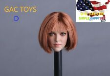 1/6 female head sculpt short Hair GC009 D for Phicen Hot toys Kumik ❶US SELLER❶