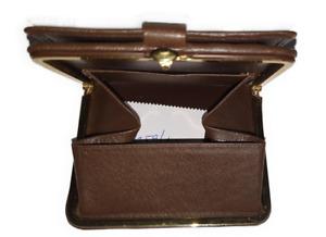 Einhand Geldbörse, Kastenbörse, Automatikbörse, Schachtelbörse, Rind-Nappaleder,