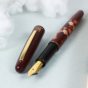 "Japan Made Kuretake Urushi Maki-e Art ""Edazakura"" Iridium M Nib Fountain Pen"
