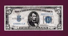 Fr.1651  $5  1934 A   MULE  SILVER CERTIFICATE NOTE BLUE SEAL SN E 88888371 A