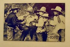 EXHIBIT SUPPLY FRED THOMPSON ARCADE CARD -  CARRYING WOUNDED COWBOY  WESTERN