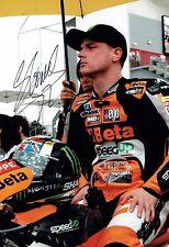 Sam LOWES SIGNED British MOTO2 Autograph 12x8 Grid RACE Photo AFTAL COA