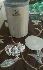 Swarovski Silver Crystal Elephant with Original Box
