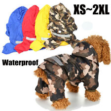 Dog Clothes Rain Coat Puppy Pet Waterproof Rainwear Jacket Hooded Reflective