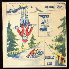 """publicité ancienne  """" découpis  """" PHOSCAO BEBE .Sport . Ski . Luge"""