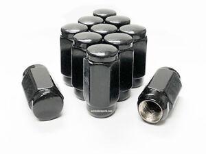 "(20) 14x1.5 BLACK ACORN LUG NUTS 1.88"" TALL DODGE FORD CHEVY GMC 7/8"" 22MM OEM"