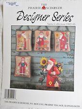 Prairie Schooler Cross Stitch Pattern Designer Series Santa Collection 1992-95