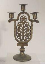 Vintage Mid Century Austrian Wiener Werkstatte Bronze Candelabra Candlesticks