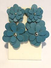 Baublebar 'Zoe' Leather Flower Drop Earring Turquoise