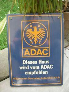 schönes ADAC EMAILSCHILD Schild Emaille Emailleschild wall sign Automobile Club