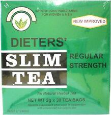 NUTRI LEAF Dieters Slim Tea Regular Strength 30 Tea Bags Weight Loss Diet Herbal