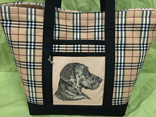 Breathtaking Custom Embroidered Great Dane Tote