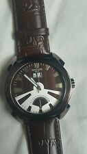 Lancaster Men's Brown Leather Watch Made in Italy new