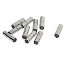 10 Sets 5mm Bayonet Push Clasp Leather Cord Ends Kumihimo Connector Findings