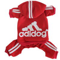 Adidog Logo Jumpsuit | Dog Clothing for Small Dogs