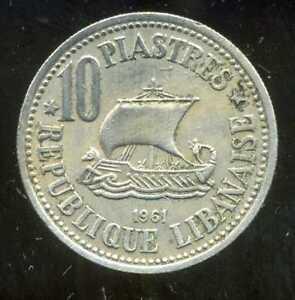 LIBAN   10   piastres 1961