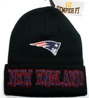 READ LISTING!New England Patriots Flat Logo on 3D Embroider Beanie Knit Cap hat