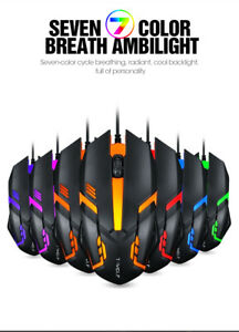 7 Colour LED USB Wired Pro Gaming Mouse Optical Game Mice For PC Laptop Computer