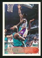 1996-97 Ray Allen Topps Rookie RC Card #217 HOF Milwaukee Bucks Sp RARE Hot Set