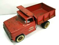 Vintage Red 1960's Tonka Hydraulic Dump Truck Pressed Steel Toy Vehicle
