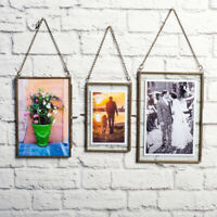 Glass Double Sided Picture Frame Artwork Picture Frame Wall Hanging Decor