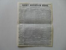 Rocky Mountain News Centennial Issue - April 23,1859 First Issue Replica, Scarce