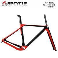 Full Carbon Gravel Bike Frame Aero Disc Brake Road Cyclocross Bicycle Framesets