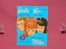 Vintage 1962 Barbie Ken & Midge booklet / Pamphlet Barbie & Friends Accessories